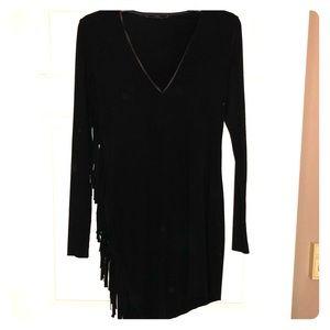 Zara tunic top/mini dress with fringe